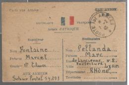 25007 - De L'ARMEE D AFRIQUE - Poststempel (Briefe)