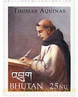 Ref. 134529 * MNH * - BHUTAN. 2000. SAINT THOMAS OF AQUINO . SANTO TOMAS DE AQUINO - Bhutan
