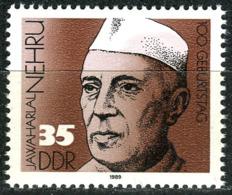 DDR - Mi 3284 - ** Postfrisch (A) - 35Pf       100. Geburtstag Dschawaharlal Nehru - [6] Repubblica Democratica