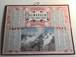 Calendrier Almanach Des Postes, Telegraphes Et Telephones AIN - 1956 - Massif De La Meije En Oisans (randonneurs) - Kalender