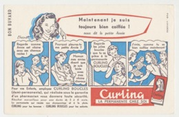 Buvard 20.9 X 13.4 CURLING La Permanente Chez Soi  Coiffure Illustrateur Chesnot - Parfum & Kosmetik