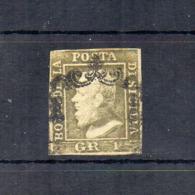 Italia- Regno Delle Due Sicilie -Sicilia - 1859 - Effige Ferdinando II° -1 Grano - Verde O.G - II^T. -Usato - (FDC18508) - Sicilia