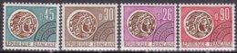 """1971-(MNH=**) Francia Preannullati S.4v.""""moneta Gallica""""catalogo Unificato Euro 6 - Francia"""