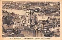 France Le Treport - Eglise St-Jacques Et Le Port, Vue Prise A Vol D'oiseau CPA - Altri