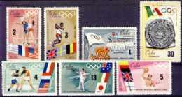 "1968-(MNH=**) Cuba S.7v.""Olimpiadi Messico"" - Summer 1968: Mexico City"