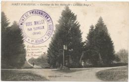 ORNE  CACHET VIOLET DETACHEMENT DES PRISONNIERS DE GUERRE BOIS MALLET PAR TANVILLE 1918 + GRIFFE AU DOS - Marcophilie (Lettres)