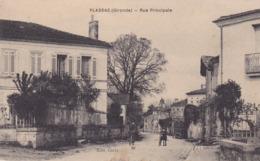 BERG19- PLASSAC EN GIRONDE  RUE PRINCIPALE  CPA  CIRCULEE - France