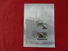Carte Philathélique émission Commune Belgique/Aland-Finlande-le Naufrage Du Titanic 100 Ans Aprés-16/04/2012 - Souvenir Cards