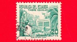 ECUADOR - Usato - 1952 - Tassa Obbligatoria - Campagna Di Alfabetizzazione - Escolar - 20 - Ecuador
