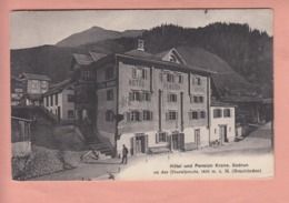 OUDE POSTKAART ZWITSERLAND - SCHWEIZ -  HOTEL UND PENSION KRONE - SEDRUN  - 1912 - GR Graubünden