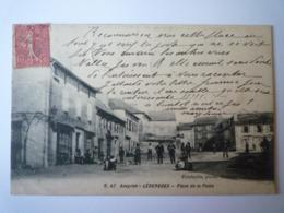 GP 2019 - 2099  LEDERGUES  (Aveyron)  :  Place De La Poste  -  Belle Animation   1908   XXX - France