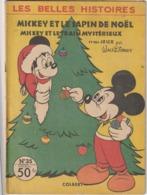 Rare Livre Pour Enfants 1e  Décembre 1956 Les Belles Histoires Mickey Et Le Sapin De Noël - Bücher, Zeitschriften, Comics