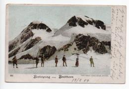 Besteigung Breithorn Gornergrat 1904  -----   509 - VS Wallis