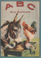 Rare Livre Pour Enfants Coloriage ABC Des Animaux Type Epinal 16 Pages - Livres, BD, Revues