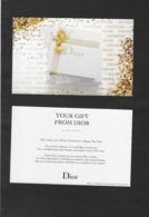 Carte Postale De Dior - Cartes Parfumées