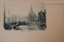 Vlissingen (Zld) Dok Zicht En Pottenkade Ca 1899 Topkaart - Zeldzaam - Vlissingen