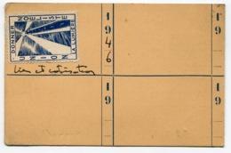 RC 14594 FRANCE 1946 CARTE D'IDENTITÉ NOËLISTE AVEC VIGNETTE DE COTISATION AU VERSO TB - Commemorative Labels