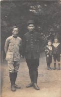¤¤   -  Carte-Photo Militaire   -  Deux Soldats Asiatiques  -  Chinois ?? , Indichinois ??    -  ¤¤ - War 1914-18