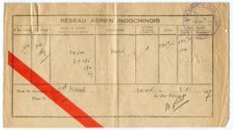 RC 14595 INDOCHINE 1947 BILLET D'AVION RESEAU AÉRIEN INDOCHINOIS SAIGON À HANOI TB - Monde