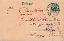 Belgien Postkarte P 9II Germania LESSINES / LESSEN 10.11.16 Nach Soltau - Occupation 1914-18