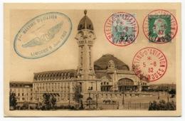 RC 14596 FRANCE 1932 LIMOGES MEETING D'AVIATION AFFR. ORPHELINS + PASTEUR TB - Airmail
