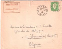 10f.Marianne De Dulac Sur Lettre Pour La Belgique Oblitéré ONS EN BRAY Oise - Marcophilie (Lettres)