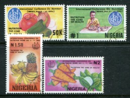 Nigeria 1992 International Conference On Nutrition, Rome Set Used (SG 642-645) - Nigeria (1961-...)