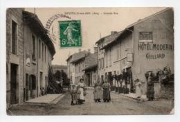 - CPA NEUVILLE-SUR-AIN (01) - Grande Rue (belle Animation) - - France