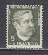 Switzerland 1944 - 100th Birthday Of Numa Droz, Statesman, Mi-Nr. 439, MNH** - Unused Stamps
