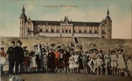 Vlissingen (Zld.) Zicht Grand Hotel Met Veel Volk 190? Met KR Renesse - Vlissingen