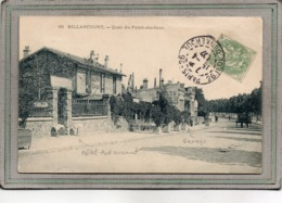 CPA - BOULOGNE-BILLANCOURT (92) - Aspect De L'Hôtel-Restaurant Et Du Garage Au Quai Du Point Du Jour En 1907 - Boulogne Billancourt