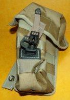POCHETTE MULTI USAGE ( POUCH SA 80MM AMMUNITION) POUR GILET TACTIQUE DE COMBAT MILITAIRE DE L'ARMEE ANGLAISE , BON ETAT - Equipement