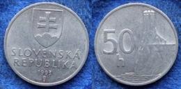SLOVAKIA - 50 Haleru 1993 KM# 15 Republic (1993-2008) - Edelweiss Coins - Slowakei