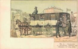 OMNIBUS DE L'ENTREPRISE GENERALE DES OMNIBUS 1 Er TYPE 1828 CIRCULEE SOUS ENVELOPPE - Postcards
