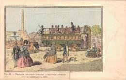 PREMIER TRAMWAY PARISIEN A TRACTION ANIMALE DIT L'AMERICAIN 1858 CIRCULEE SOUS ENVELOPPE - Postcards