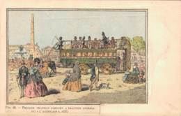 PREMIER TRAMWAY PARISIEN A TRACTION ANIMALE DIT L'AMERICAIN 1858 CIRCULEE SOUS ENVELOPPE - Altri