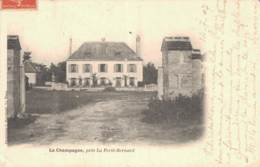 RARE  72 LA CHAMPAGNE PRES LA FERTE BERNARD  CARTE PRECURSEUR CIRCULEE 1907 - Francia