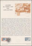 Collection Historique: Tag Der Briefmarke - Postamt Paris 10.3.1979 - Tag Der Briefmarke