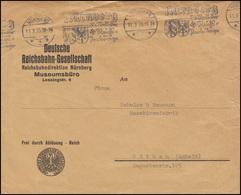 Frei Laut Ablösung Reich Brief Reichsbahndirektion Museumsbüro NÜRNBERG 11.3.35 - Trains