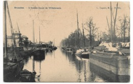 CPA PK  BRUXELLES  L'ANCIEN CANAL DE WILLEBROECK  PENICHES - Belgien
