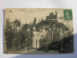 CPA Dompierre. Cavalcade Du 23 Février 1913. Char Des Sans Souci. Belle Animation. - Other Municipalities