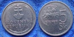 "SLOVAKIA - 5 Koruna 1993 ""celtic Coin Of Biatec"" KM# 14 - Edelweiss Coins - Eslovaquia"