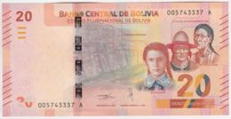Bolivia NEW - 20 Bolivianos 2018 - UNC - Bolivia