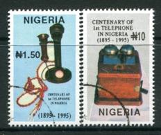 Nigeria 1995 Centenary Of First Telephone In Nigeria Set Used (SG 695-696) - Nigeria (1961-...)