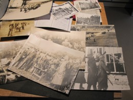 SPA-PHOTOS WW2 TROUPES ALLEMANDES-GARNISON BELGE PHOTOS COURSE HIPPIQUE/FUNERAILLES/STAND TIR-CARTE+divers Voir Scans - Historische Dokumente