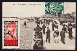 FRANCE (Timbre Seul Sur Lettre, Erinnophilie) Timbre N° 211 Obl. Dieppe En 1925. Expo. Internationale Des Arts Déco..... - Erinnophilie