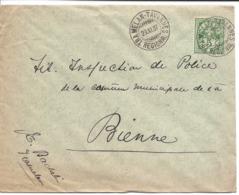 TRAMELAN - TAVANNES REGIONAL 1907, Type Chiffre Sur Lettre Pour Bienne,  AMBULANT - BAHNPOST - RAILWAY.Train. - Ferrovie