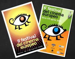 [MD4035] CPM - CINEMA - 2 CARTOLINEFESTIVAL DEL CINEMA EUROPEO - LECCE 2005 & 2008 - PERFETTE - NV - Cinema