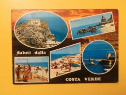 CARTOLINA POSTCARD ITALIA ITALY 1974 COSTA VERDE SARDEGNA BOLLO SERIE SIRACUSANA ANNULLO PARGHELLA OBLITERE' - Altre Città