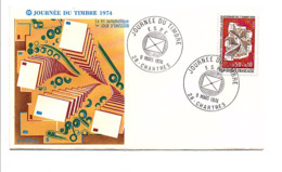 FDC 1974JOURNEE DU TIMBRE - CHARTRES - FDC